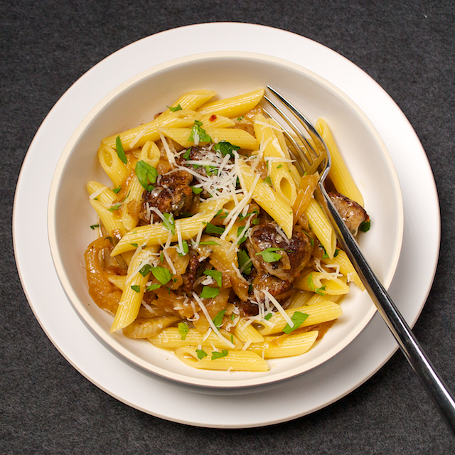 Penne with Sausage, Fennel and Pecorino